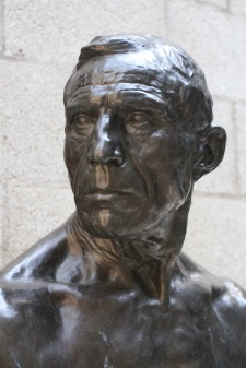 Bust of a man, Kröller-Müller Museum, Sculpture Garden, Netherlands