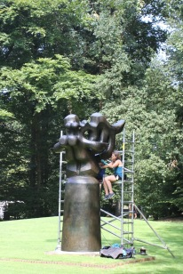 Maintenance work, Kröller-Müller Museum, Sculpture Garden, Netherlands