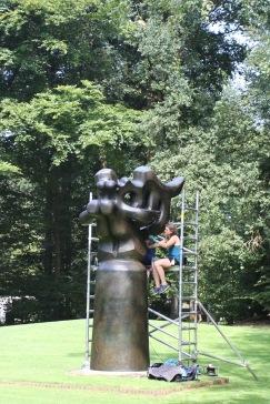 Maintenance work, Kröller-Müller Museum, Sculpture Garden, Netherlands