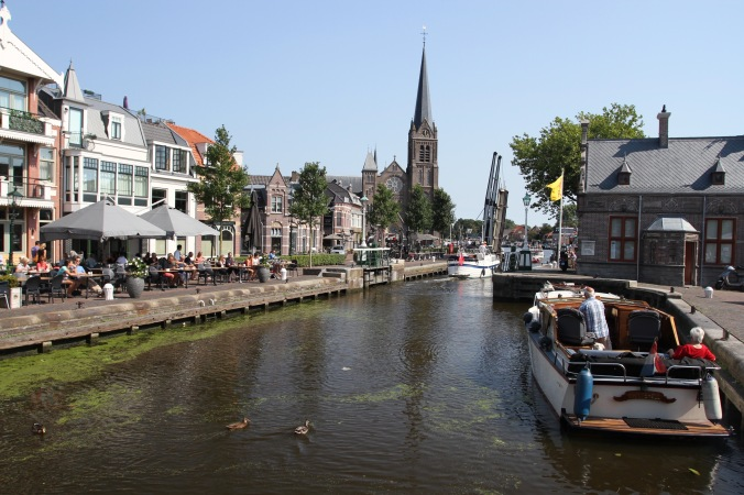 Leidschendam on the Vliet Canal, The Netherlands