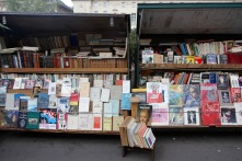Book stall on the banks of the Seine, Paris, France