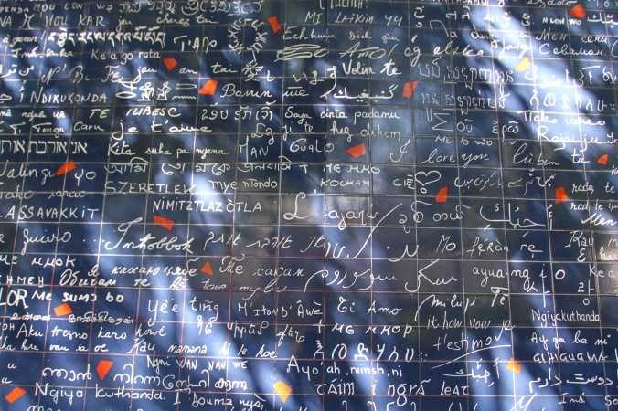 'i love you' wall, Montmatre, Paris, France
