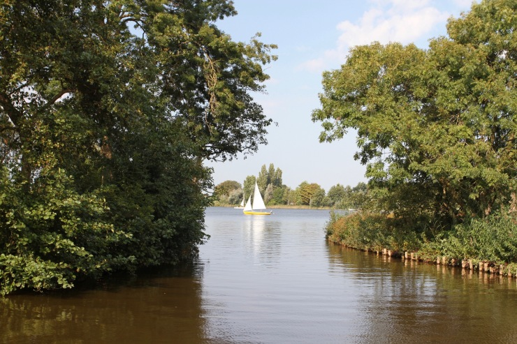 Cycling the Midden-Nederlandroute, near Gouda, Netherlands