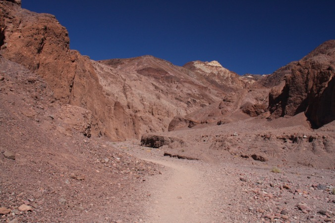 Trail to rock bridge, Death Valley, California, United States