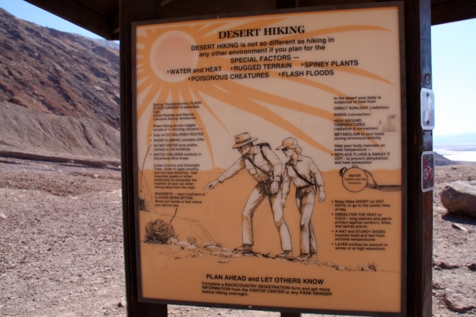 Hiking advice near rock bridge, Death Valley, California, United States