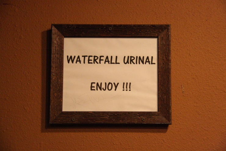 Waterfall urinal, Mojave National Preserve, California, United States