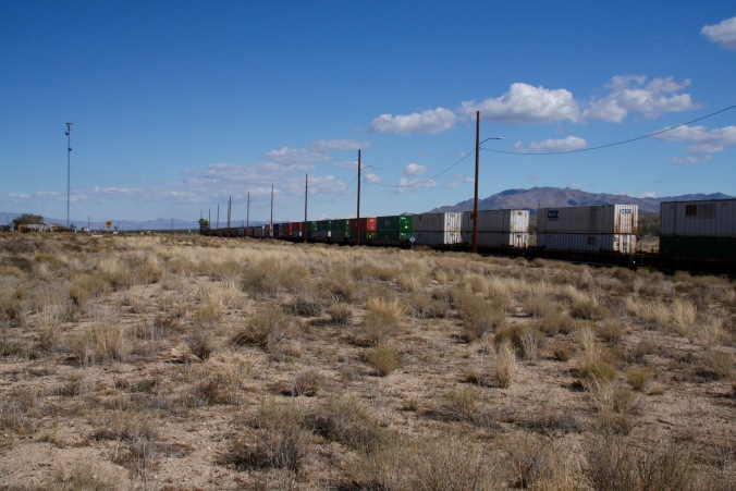 Freight train, Mojave National Preserve, California, United States