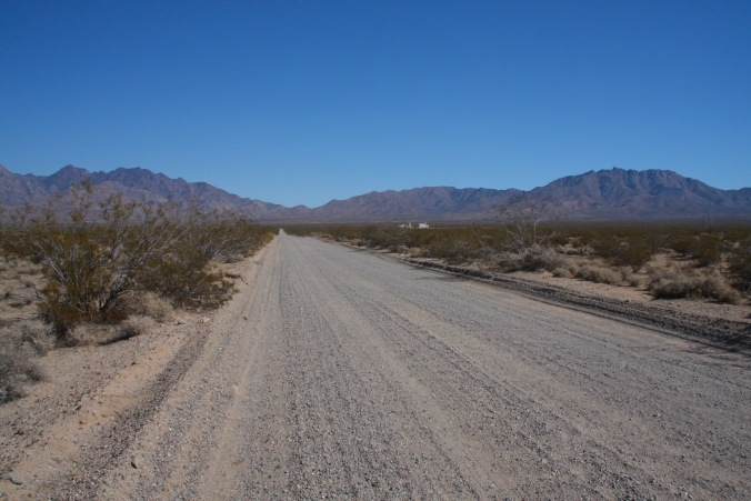 Road to Kelso Dunes, Mojave National Preserve, California, United States