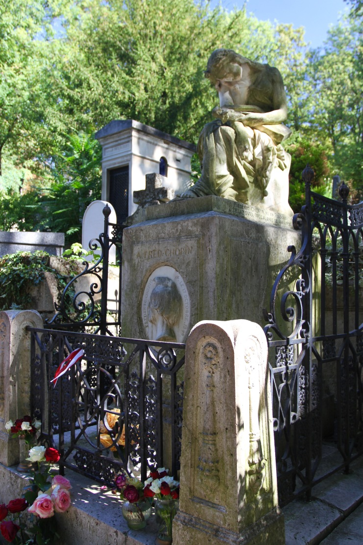 Chopin's grave, Père Lachaise Cemetery, Paris, France