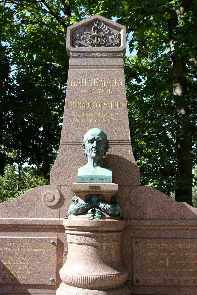 Hahnemann's grave, Père Lachaise Cemetery, Paris, France