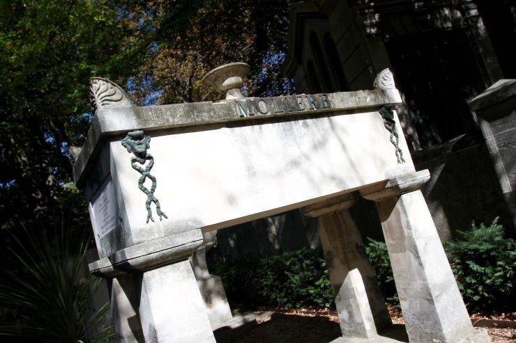 Moliere's grave, Père Lachaise Cemetery, Paris, France