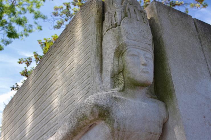 Oscar Wilde's tomb, Père Lachaise Cemetery, Paris, France