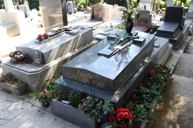 Edith Piaf grave, Père Lachaise Cemetery, Paris, France