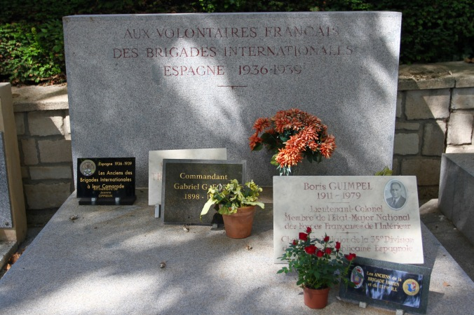 Memorial to the International Brigade, Père Lachaise Cemetery, Paris, France