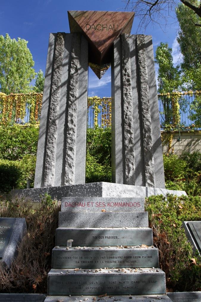 Memorial to Dachau concentration camp, Père Lachaise Cemetery, Paris, France