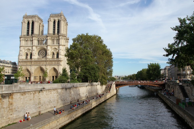 The Seine at Notre-Dame Cathedral, Paris, France