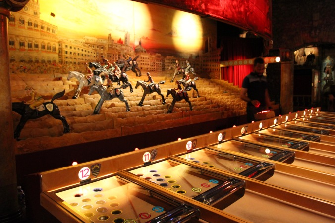 A winner, horse race game, Musée des Arts Forains, Paris , France
