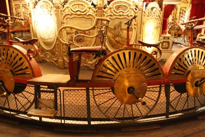 The vélocipèdes carousel, Musée des Arts Forains, Paris , France