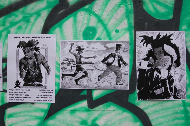 African superhero, Canal St. Martin, Paris, France