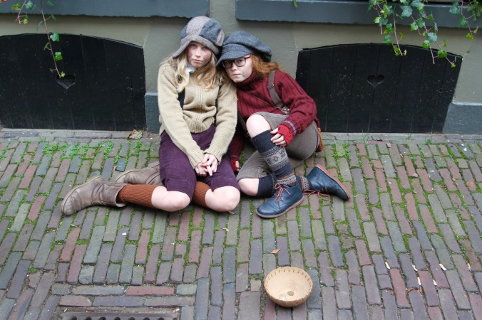 Street urchins, Dickens Festival, Deventer, Netherlands