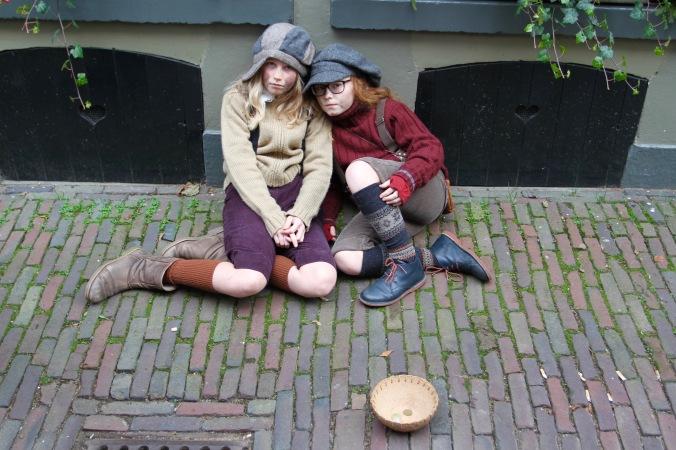 Street urchins, Dickens Festival, Deventer, Netherlands