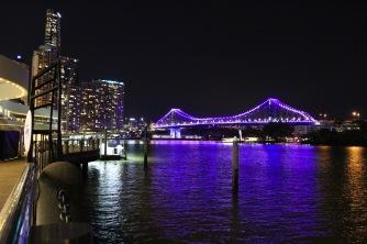 The Brisbane River at night, Brisbane, Australia