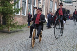 Cycling, Dickens Festival, Deventer, Netherlands