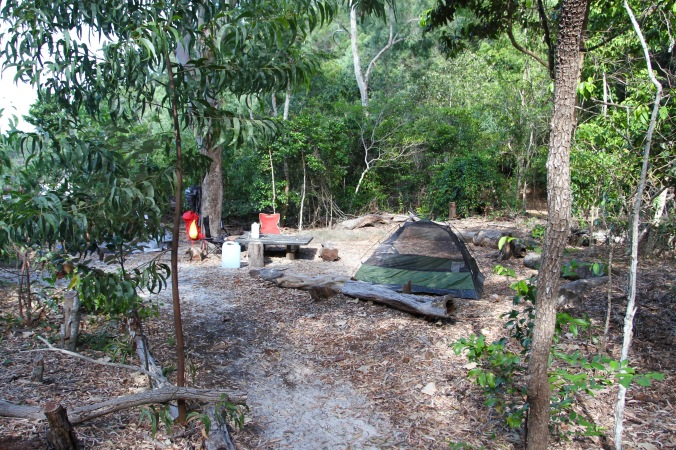 Campsite, Whitehaven Beach, Whitsunday Island Queensland, Australia