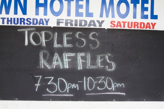 Topless Raffles, Charters Towers, Queensland, Australia