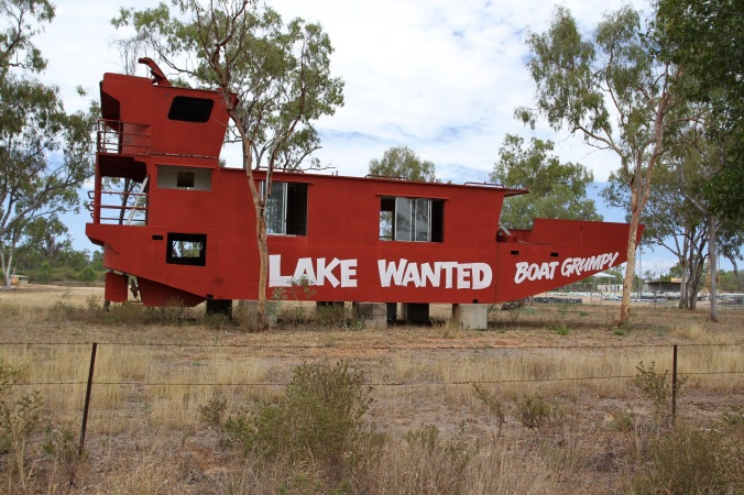 Boat near Charters Towers, Queensland, Australia