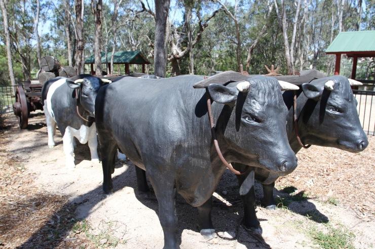 Bullock team memorial, Crows Nest, Queensland, Australia