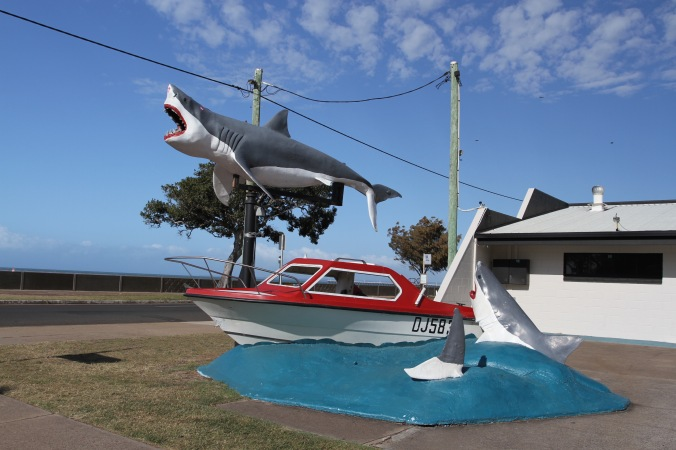 Shark statue, Hervey Bay, Queensland, Australia