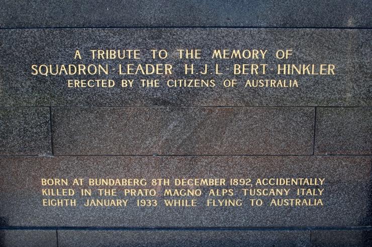 Memorial to Bert Hinkler, Bundaberg, Queensland, Australia