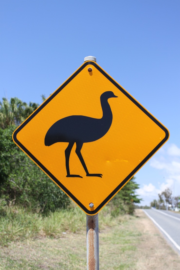 Emu road sign, Queensland, Australia