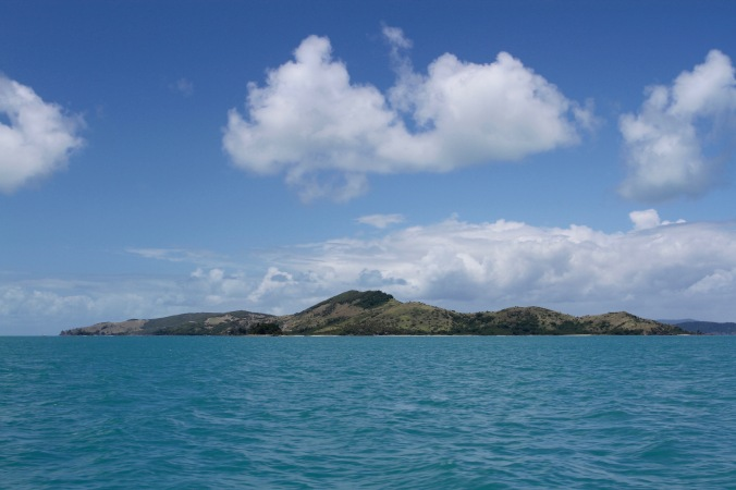 Sailing through the Whitsunday Islands, Queensland, Australia