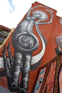 UK artist Phlegm's Creation Myth, Street Art, Perth, Western Australia