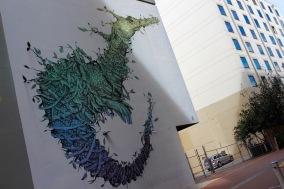 Seahorse by Puerto Rican artist Alexis Diaz, Street Art, Perth, Western Australia