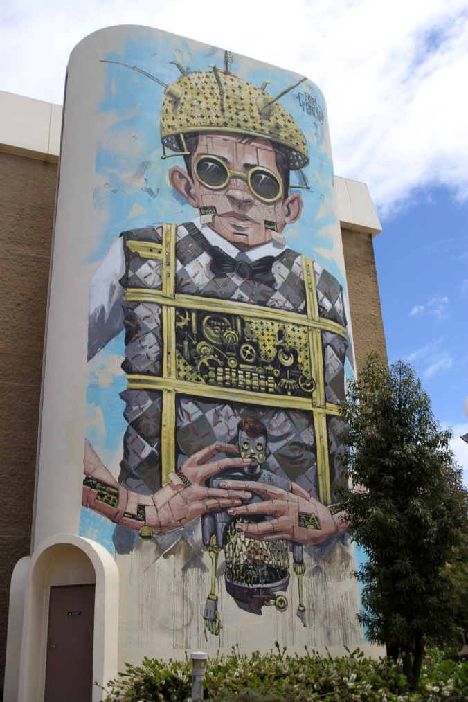Italian artist, Pixel Pancho, Northbridge, Perth, Western Australia