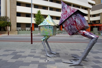 Baba Yaga's Houses by Marwa Fahmy, Northbridge, Perth, Western Australia