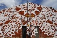 Street Art from Polish artist, NeSpoon, in China Town, Perth, Western Australia