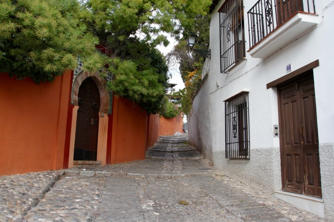 Medieval streets of Granada, Andalusia, Spain