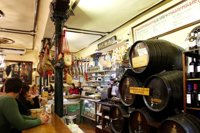 Sherry bar, Granada, Andalusia, Spain