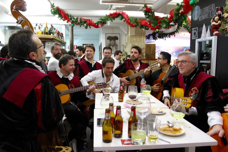 A band in Seville, Andalusia, Spain