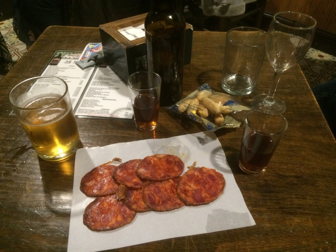 Sherry and snacks, Tabanco El Pasaje, Jerez de la Frontera, Spain