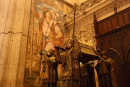 Columbus' tomb, Seville, Andalusia, Spain