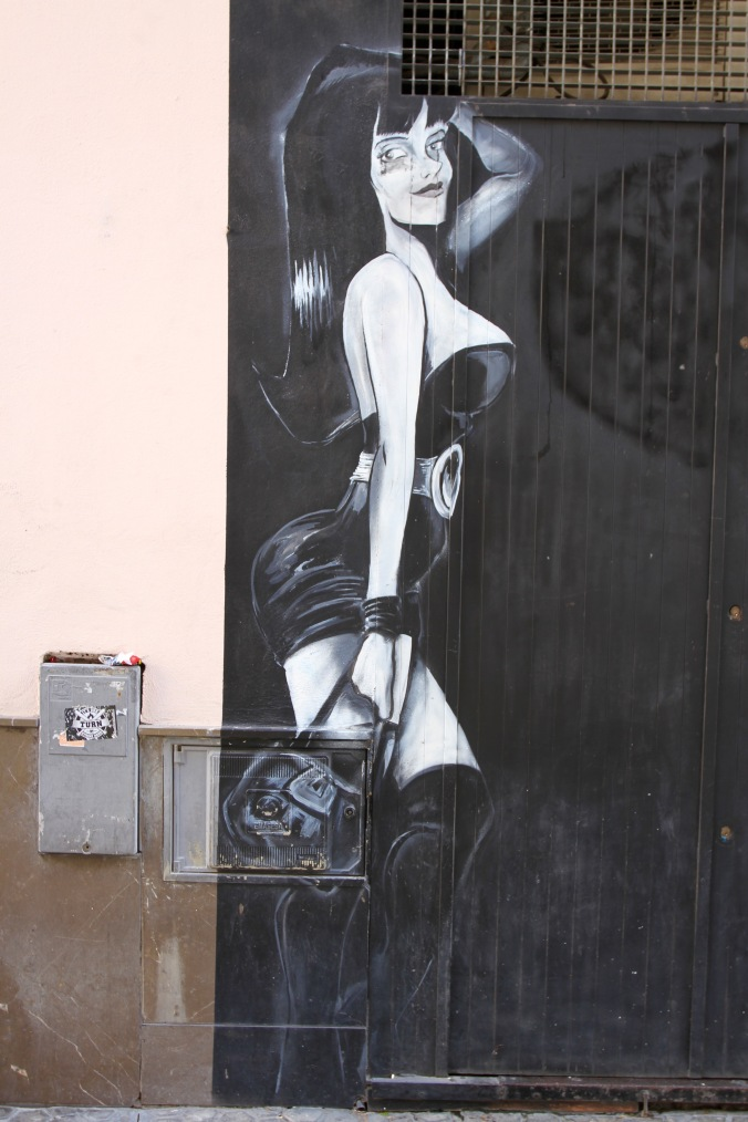 Street art, Seville, Andalusia, Spain