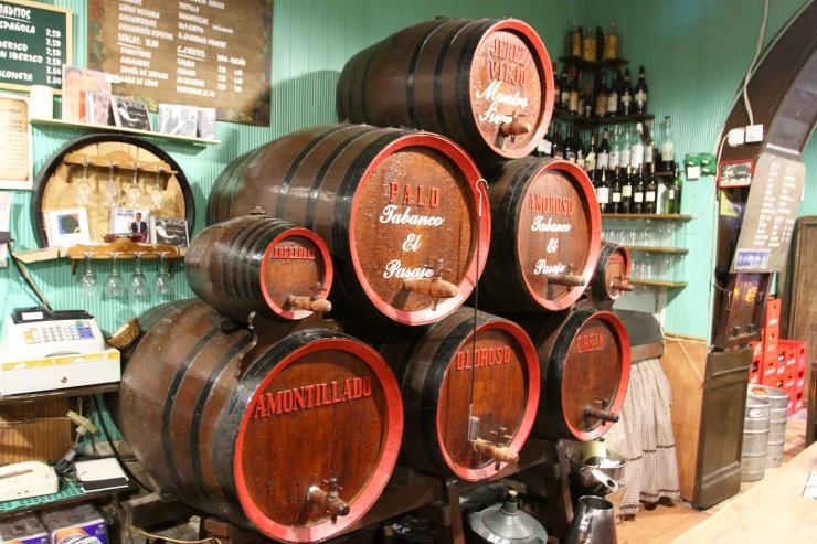 Sherry barrels, Tabanco El Pasaje, Jerez de la Frontera, Spain