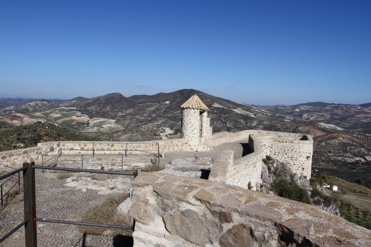 The view from Olvera castle, Andalusia, Spain