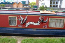 Canal boat, London