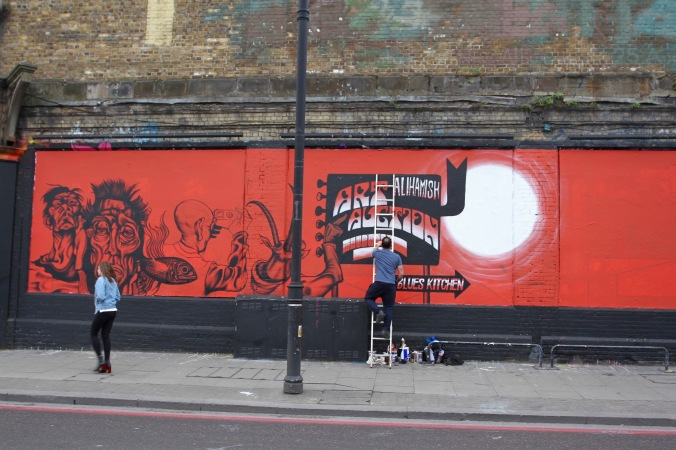 Caught in the act, Street art, East End, London